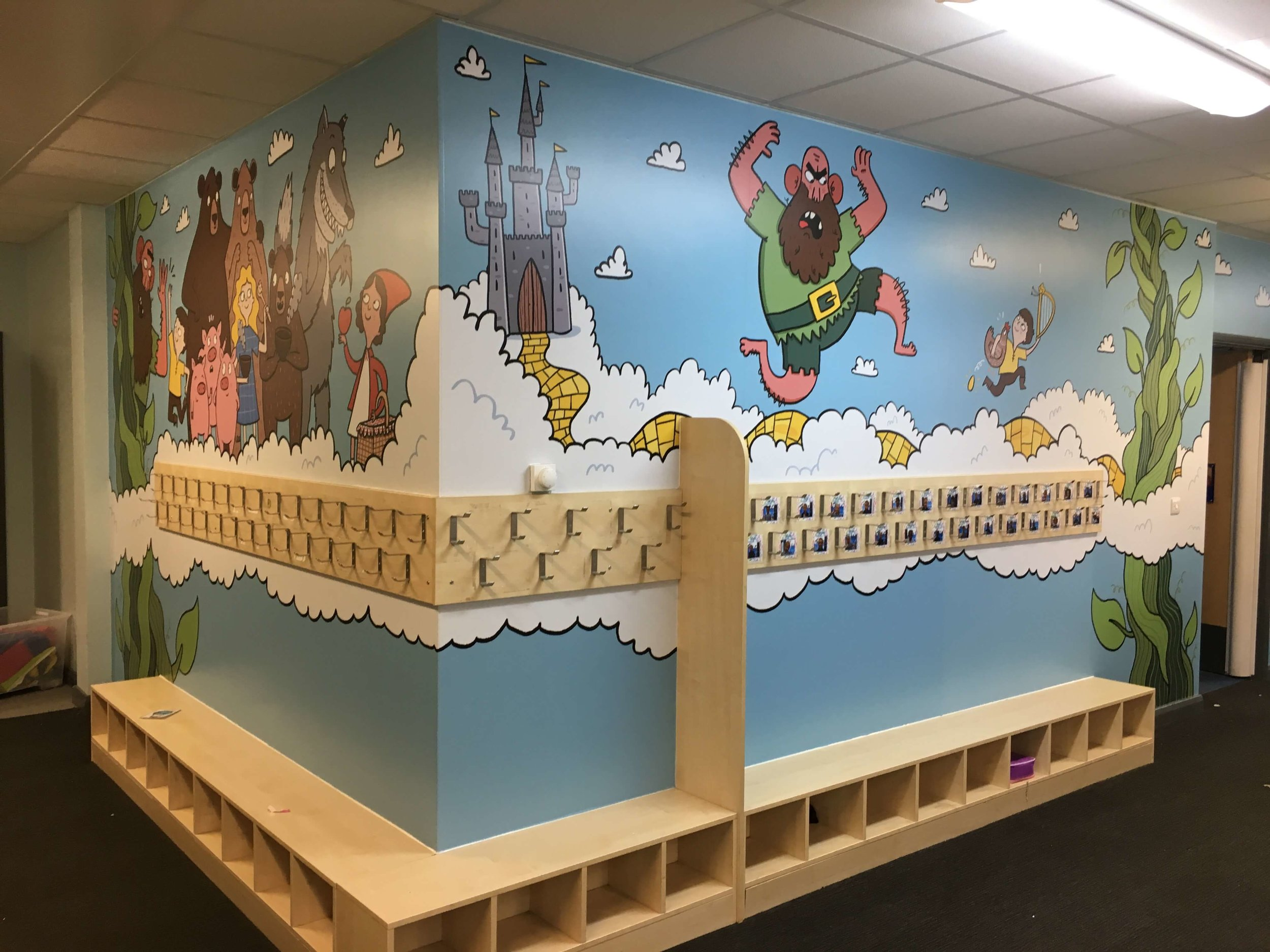 Traditional tales wall graphic | School wall graphic