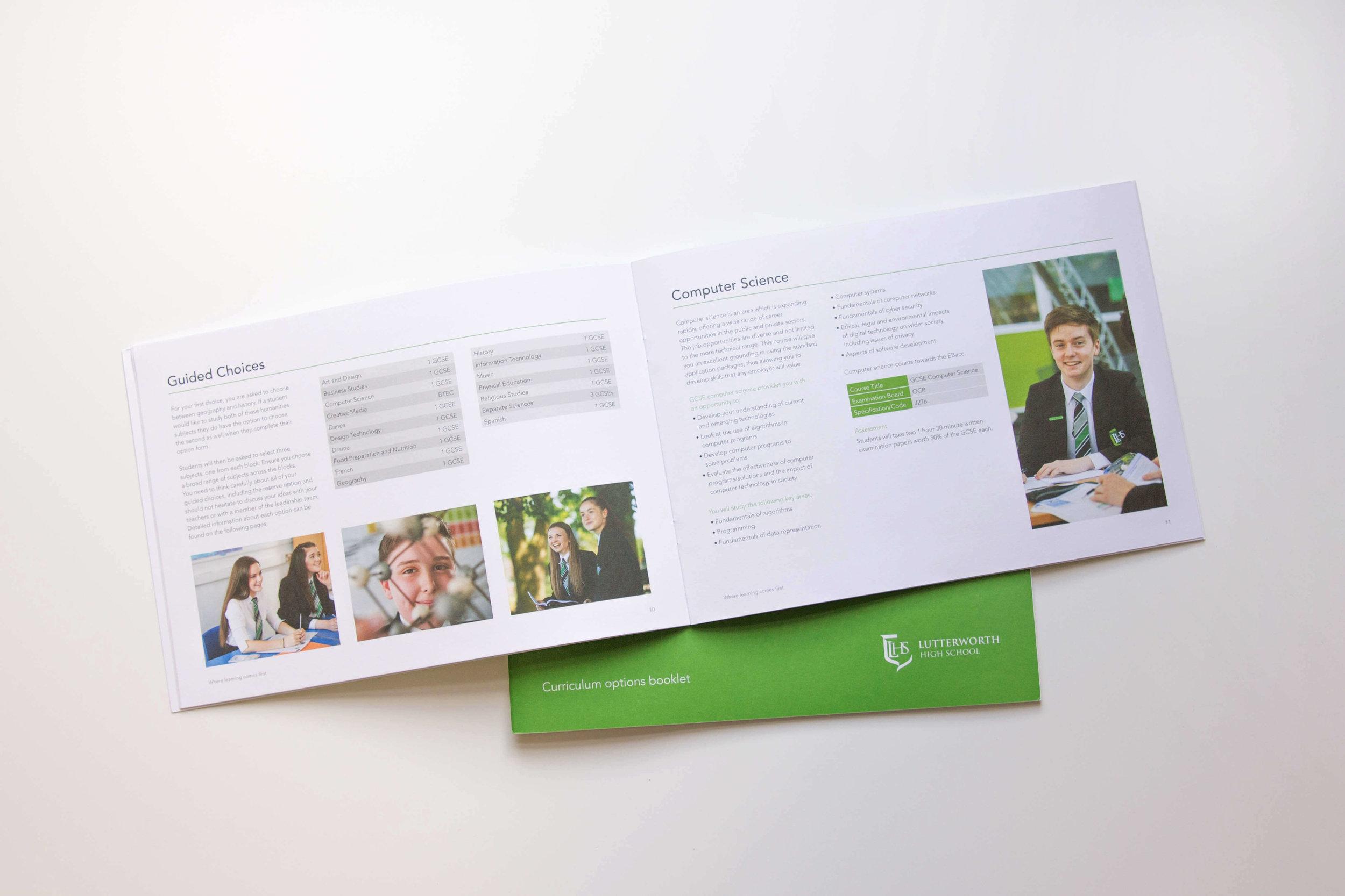 School prospectus and folder design