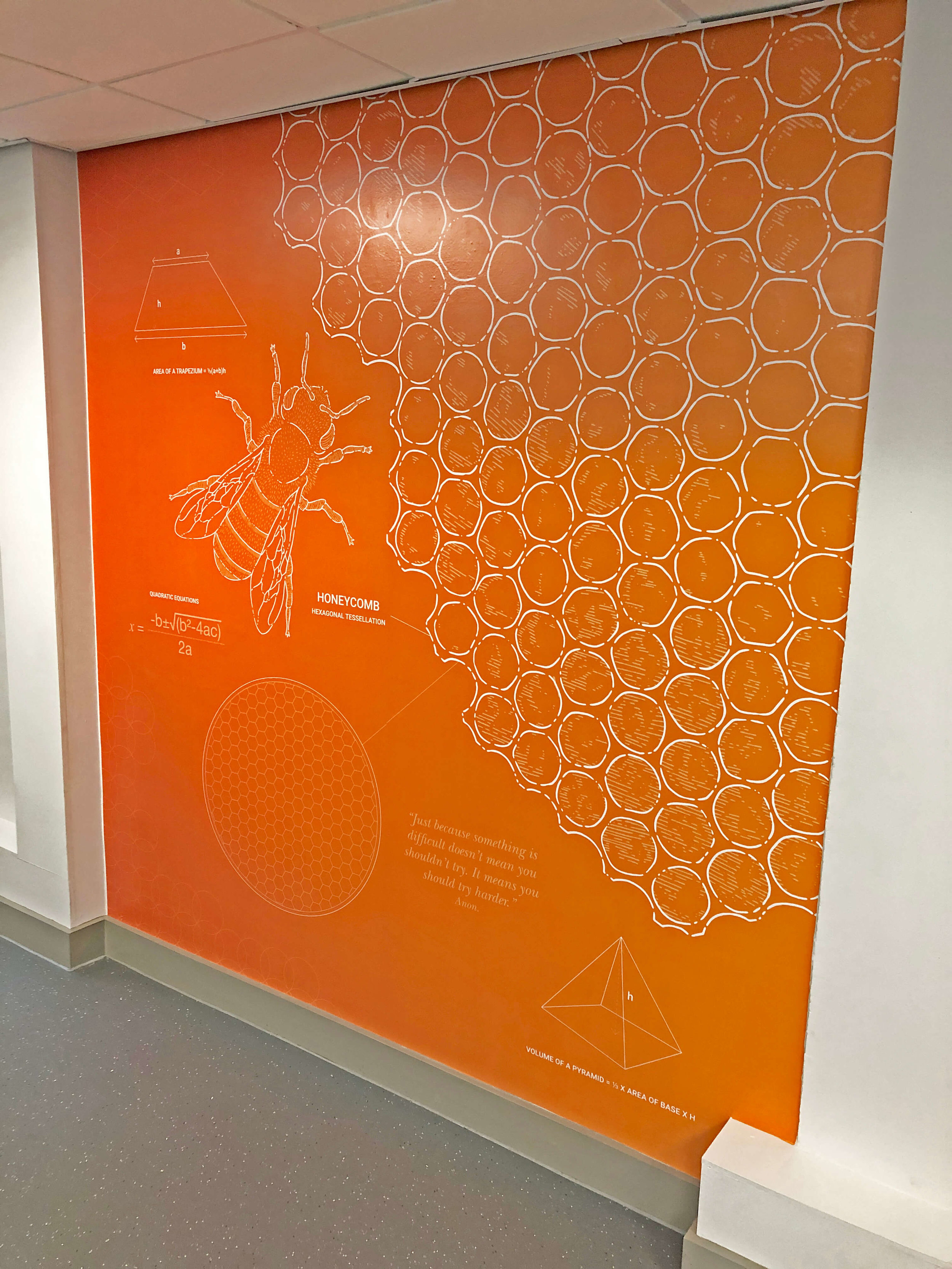 Amaing mathematics wall display | School wall art | Birmingham, Coventry, Midlands, UK