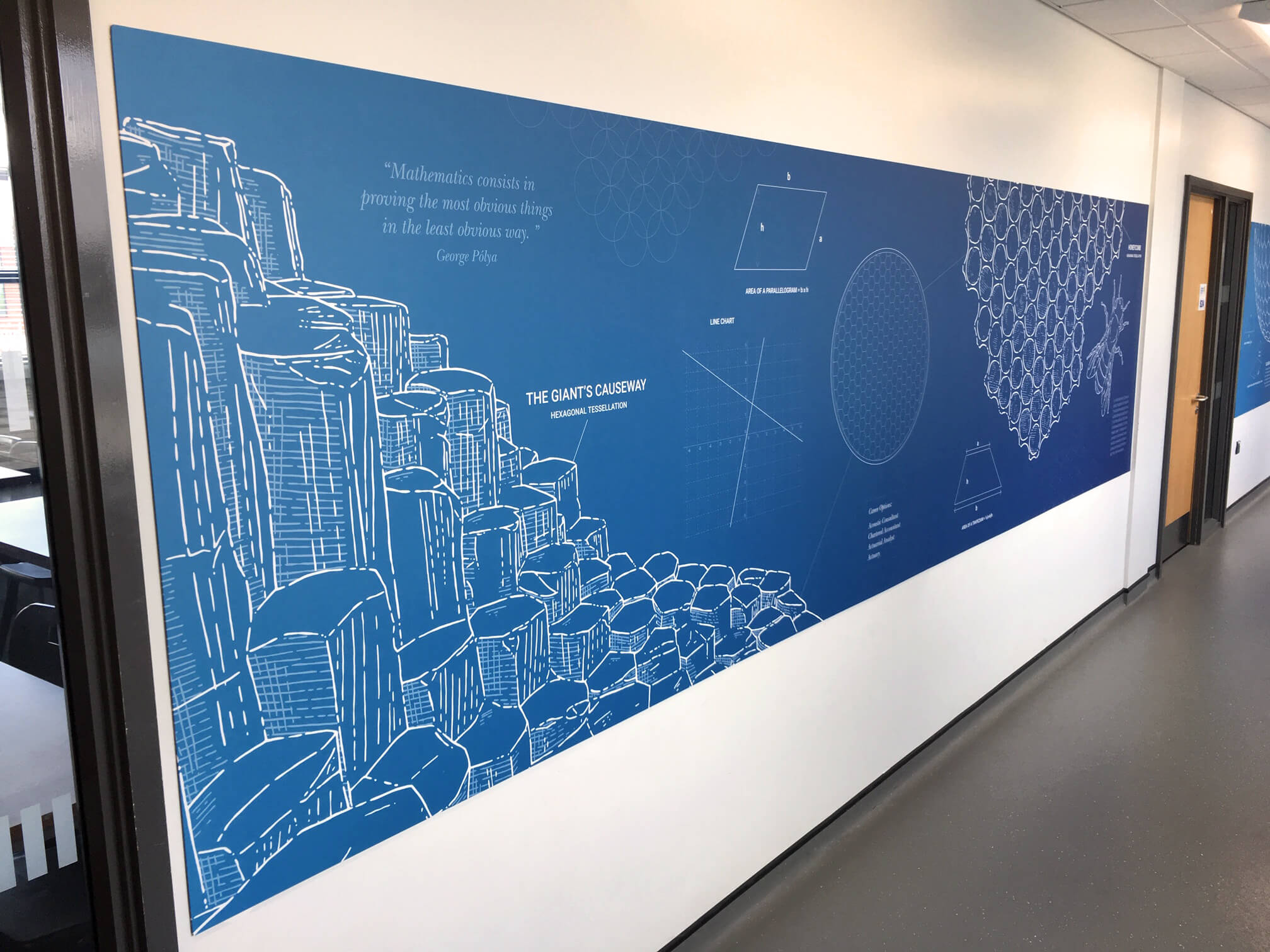 Creative wall graphics for school | School wall art | Birmingham, Coventry, Midlands, UK