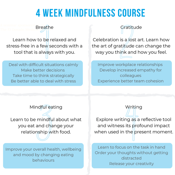 4 week mindfulness course content