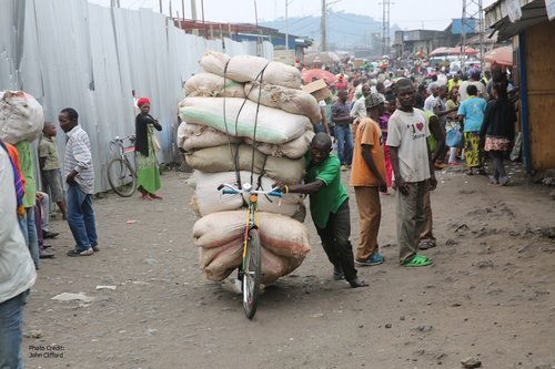 Traders in Goma.