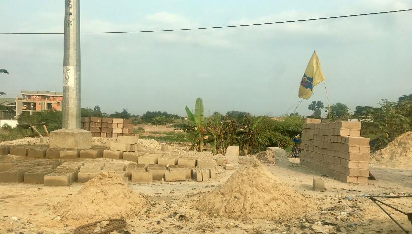 Construction materials in Kinshasa.