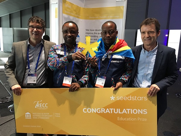 Schoolap taking home the Education Prize in Switzerland.