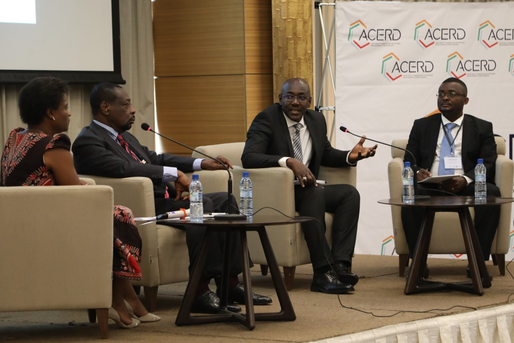 Maximilien Munga (UCM), Ibrahima Konate (African Development Bank) and Didier Tsasa (World Bank) spoke on the first panel moderated by Catherine Mukobo (ACERD).