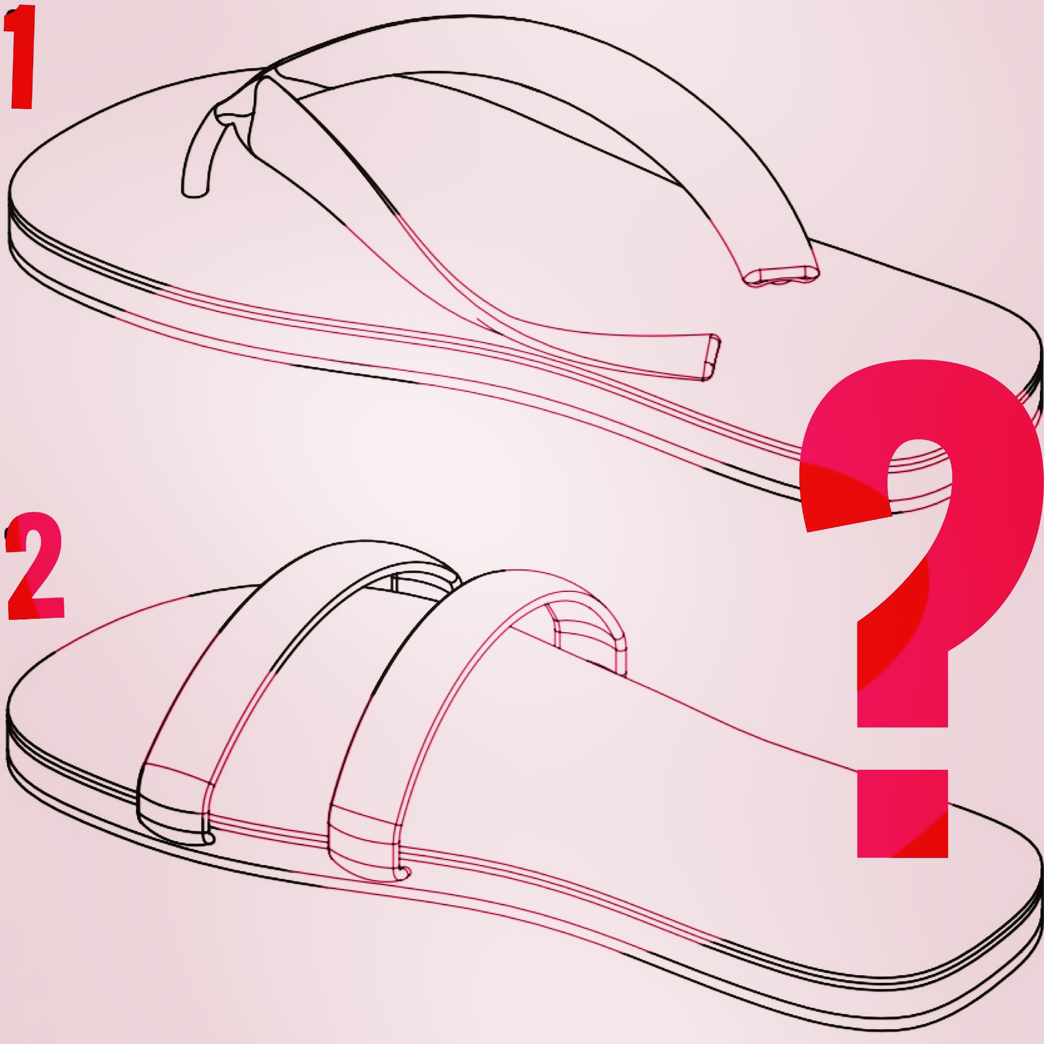 Cocreated flip flop: Strap choice?