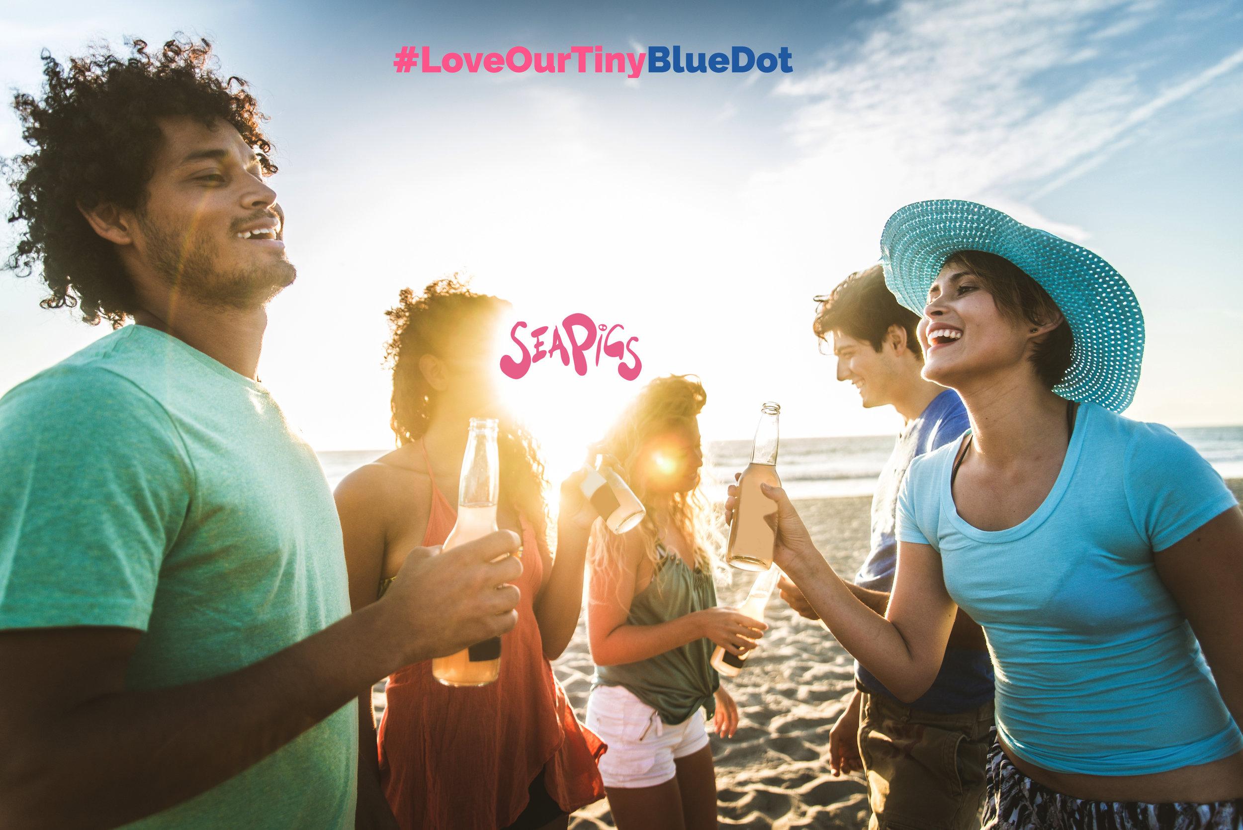 SeaPigs Drifters - Love Our Tiny Blue Dot