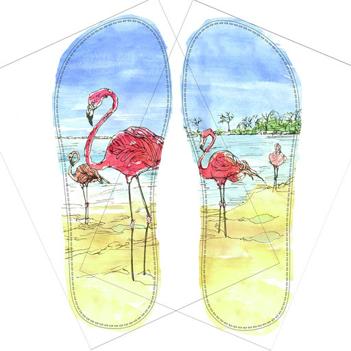 SeaPigs 'Aruba Aruba - Flamingo Beach' Drifters Design