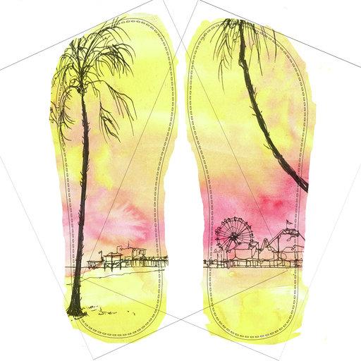 SeaPigs Drifters 'Muscle Beach - Santa Monica' Design