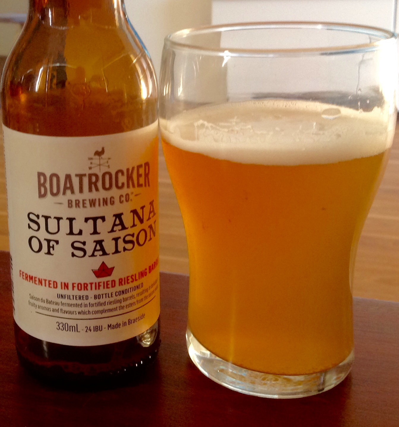 Boatrocker Sultan Of Saison (6.4% abv): These Melbourne brewers use fortified Riesling barrels to infuse their Saison du Bateau with vinous and dried fruit notes. Superb!