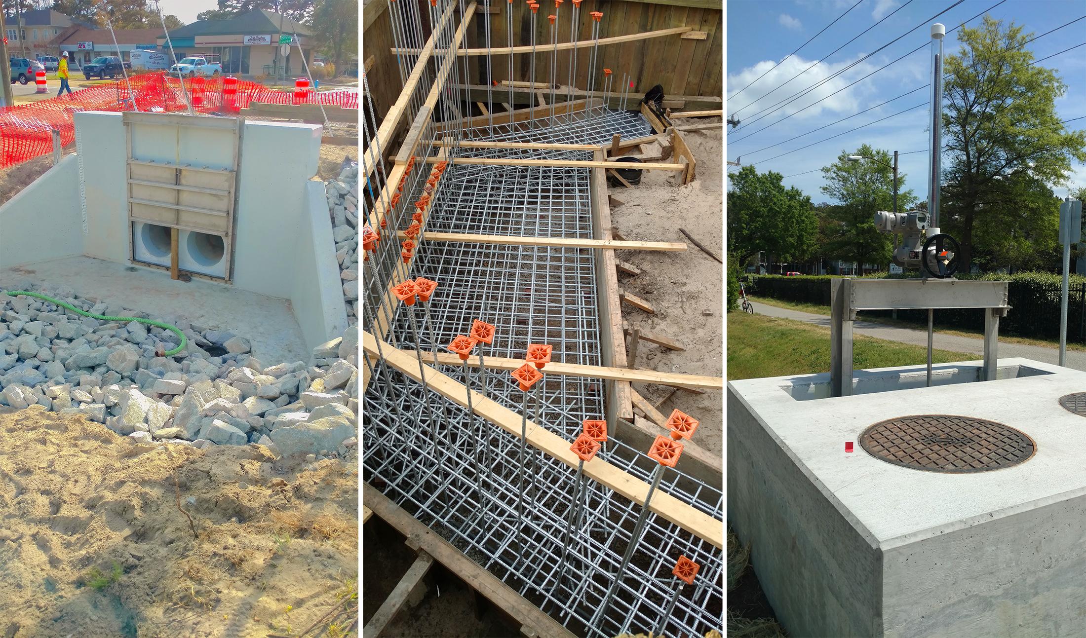CAPE HENRY SLUICE GATE CONSTRUCTION, VIRGINIA BEACH