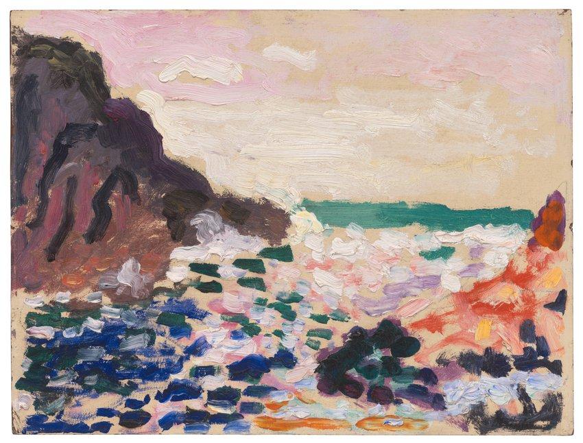 Henri Matisse, Marine (Bord de mer) (Seascape [Beside the Sea]), 1906 · SFMOMA