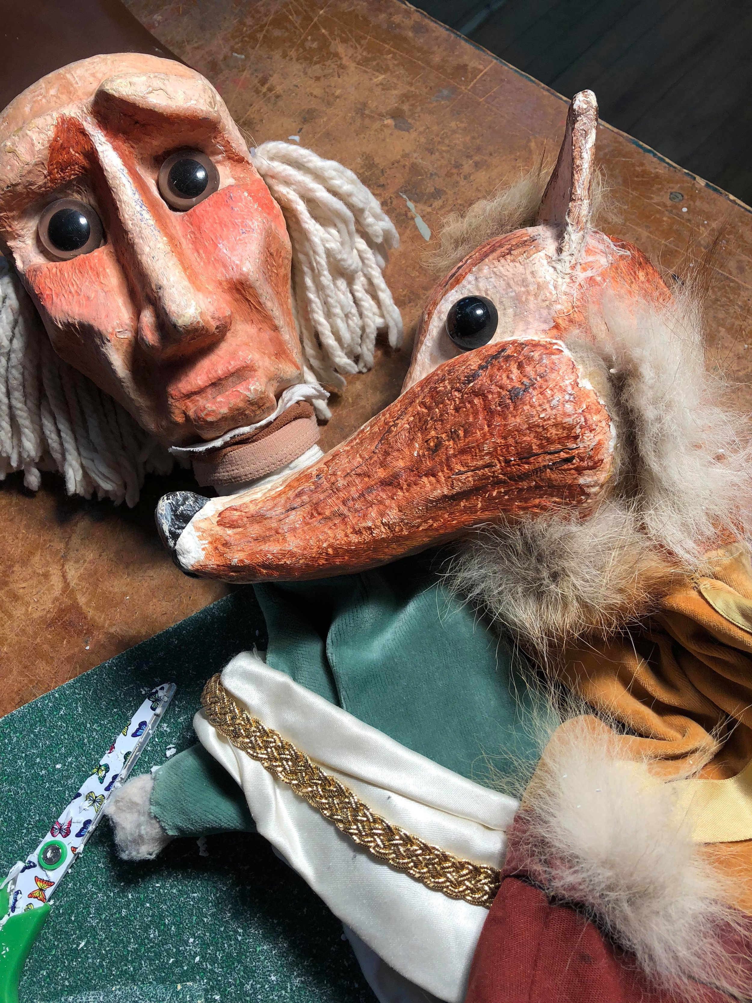Mermaid Theatre Puppets. Jim Morrow. Styrofoam
