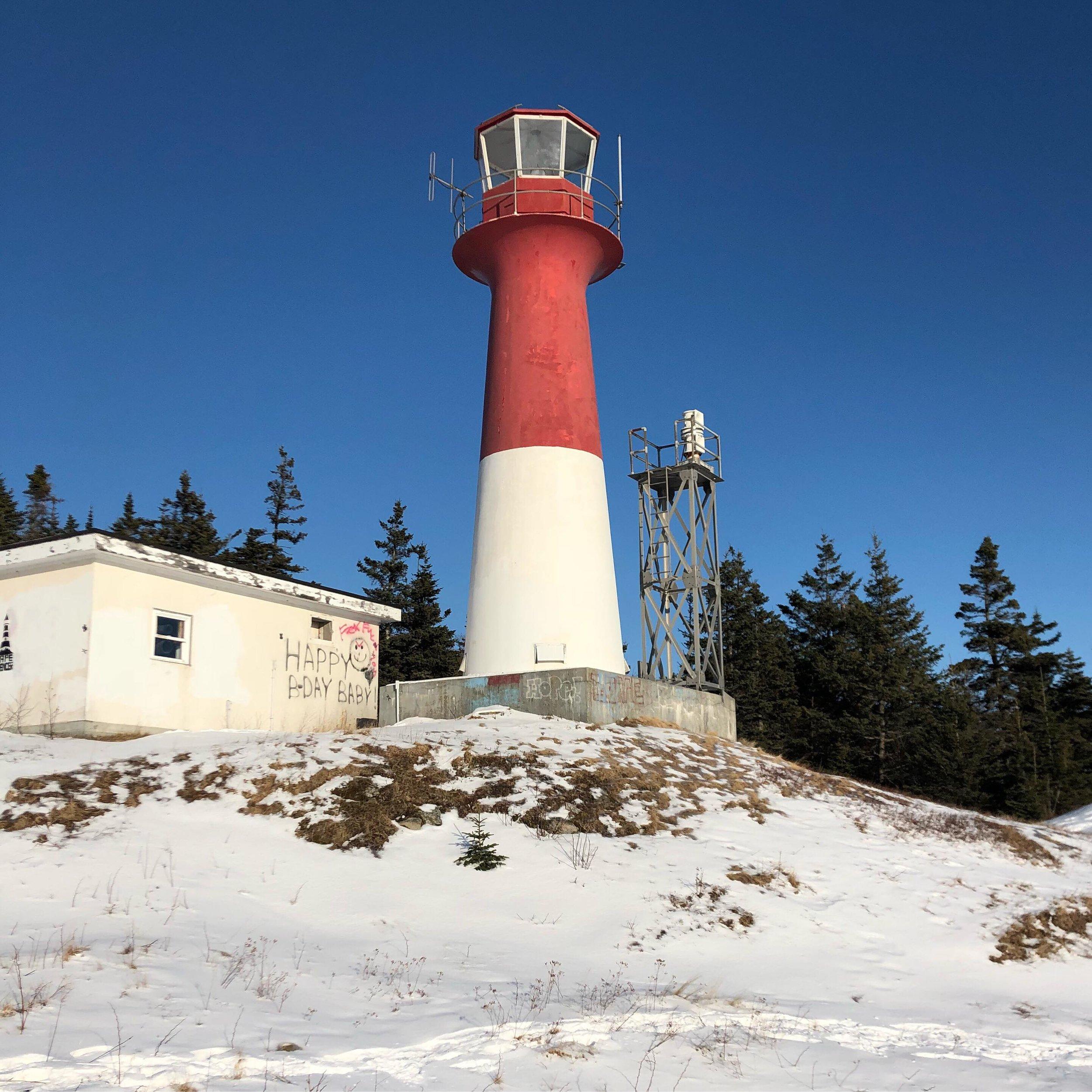 Cape Spencer Lighthouse. Distortion. 2019