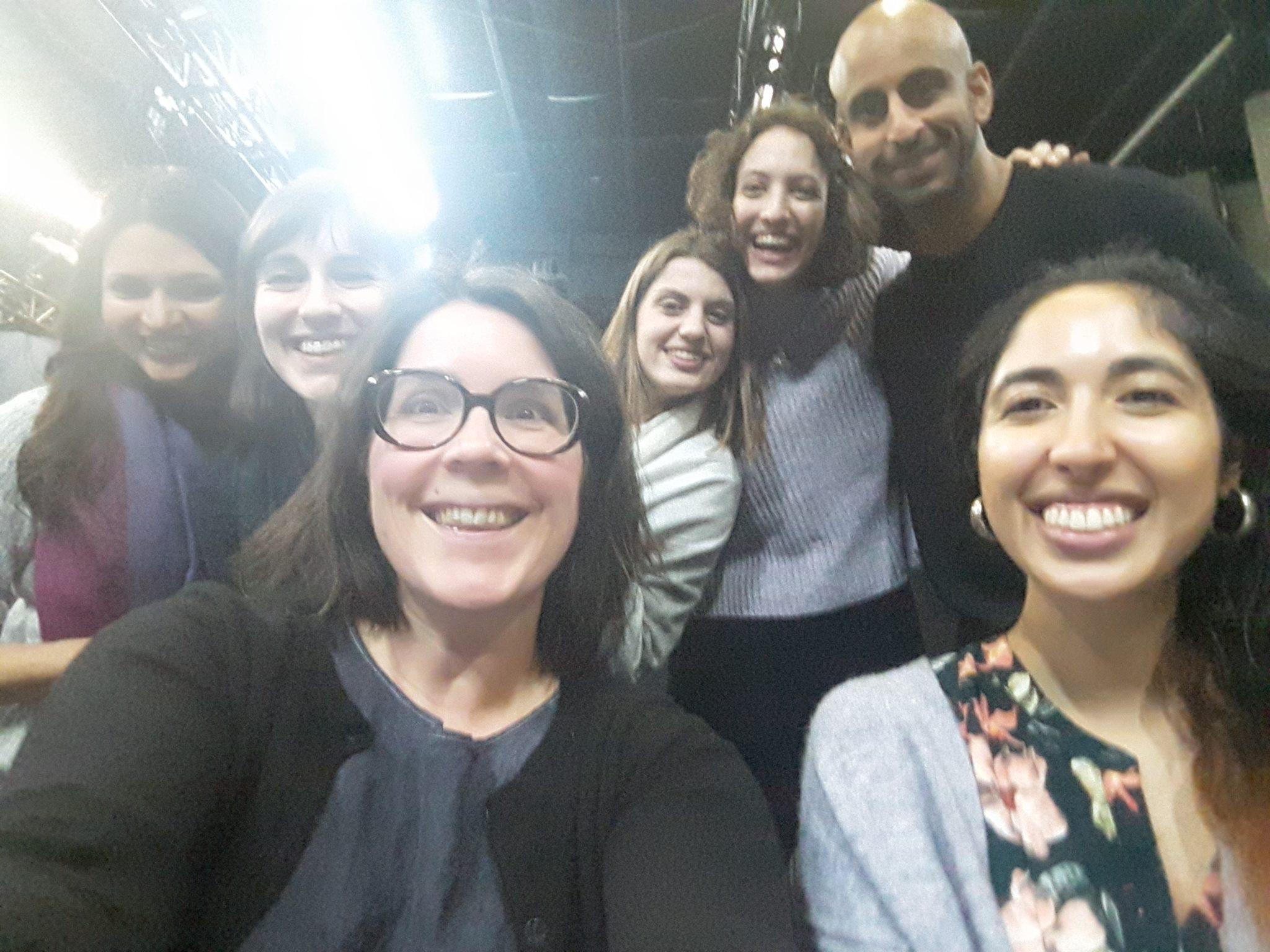 TNB Young Company 2019. Ambica Sharma, Sharisse LeBrun, Laura-beth Bird, Ivy Charles, Natasha Maclellan, Mona Malik and Zeshaun Sal. Photo Credit: Mona Malik.