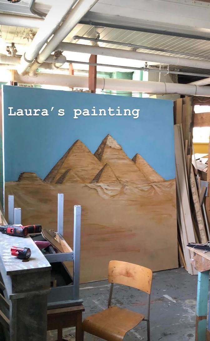 Egypt. Latex on Canvas. Laura-Beth Bird. A Midsummer Nights Dream. Bard in the Barracks. 2019