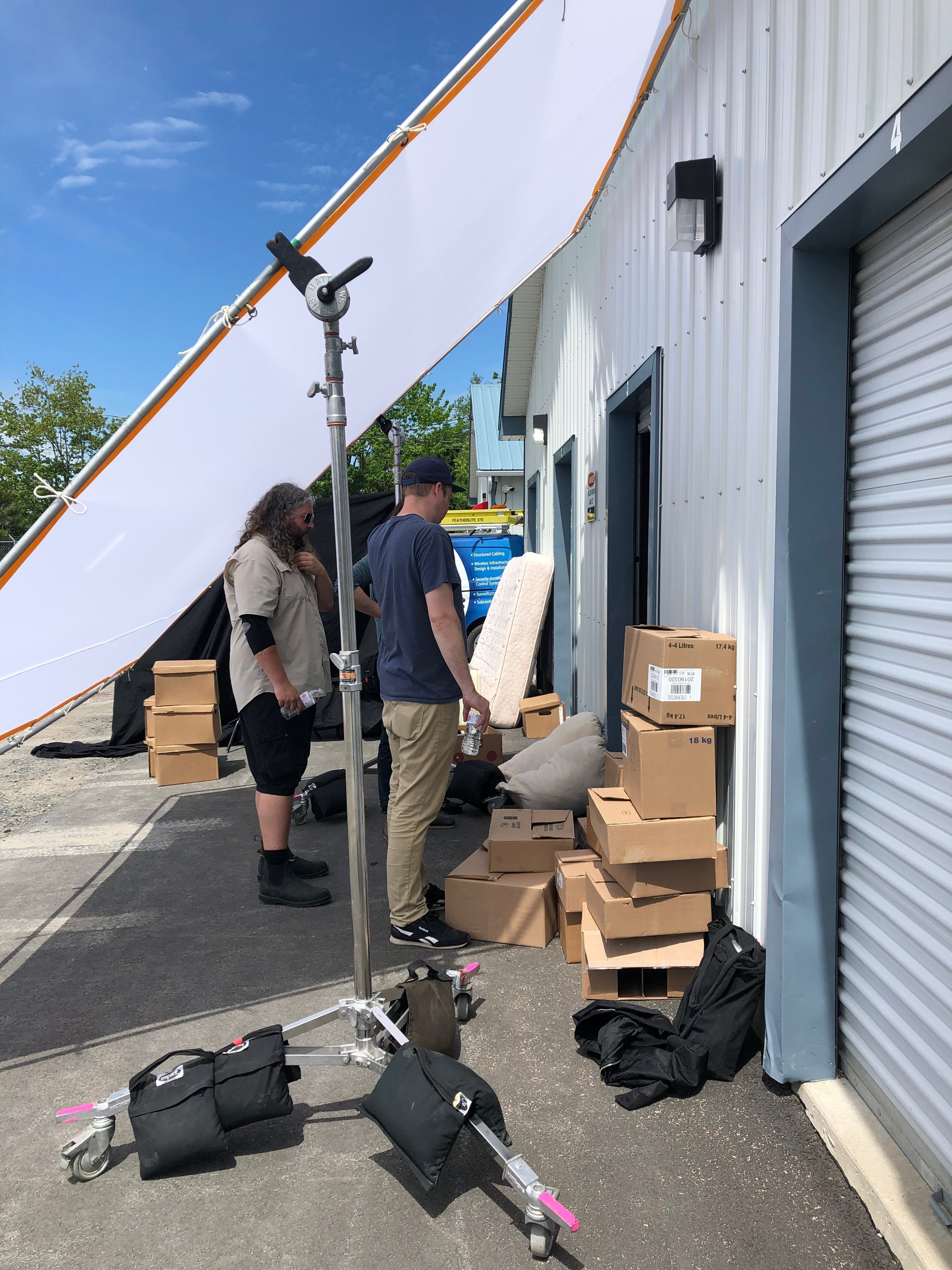 Storage Locker. Lighting and Camera Crew. Laura-Beth Bird. Queen of the Andes 2019.