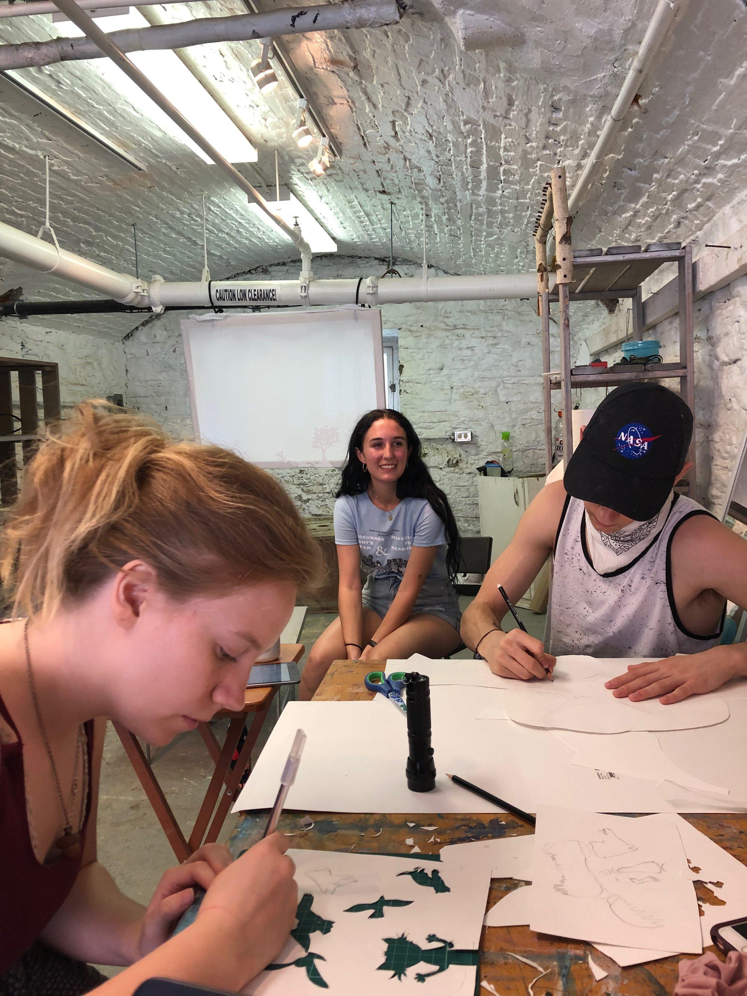 Cutting Paper. Kira Chisholm, Naomi Mcgowan, Dustyn Forbes. FAA Residency. July 2019