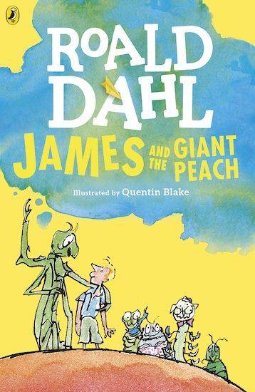 James and The Giant Peach. Roald Dahl. Cover Art