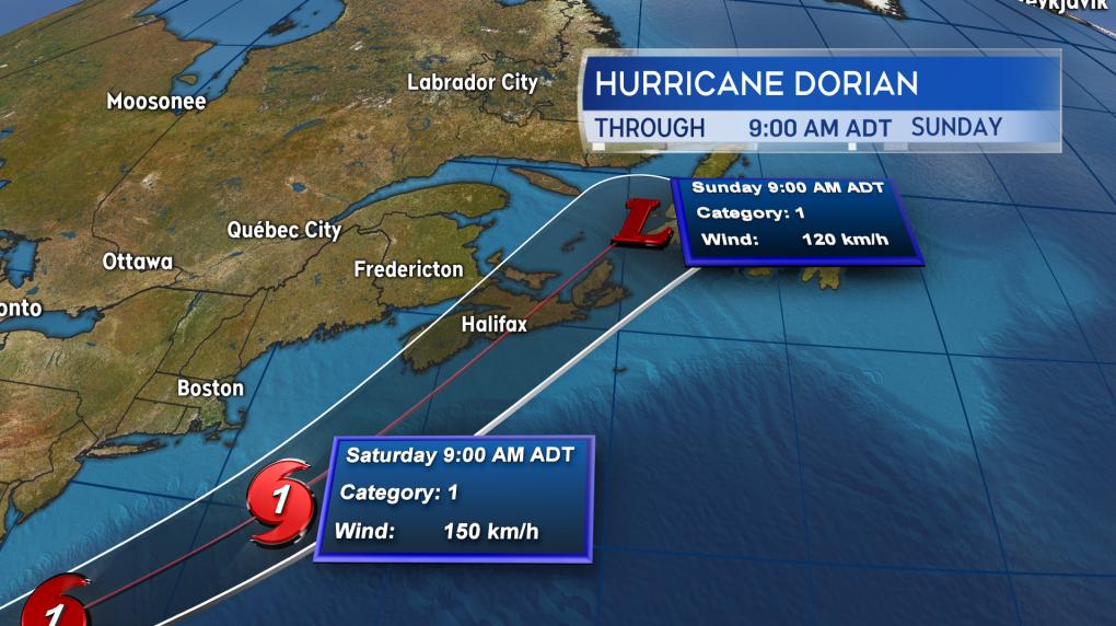CTV Atlantic. Hurricane Dorian.