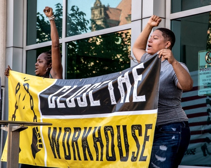 Action St. Louis member leading Close the Workhouse Action