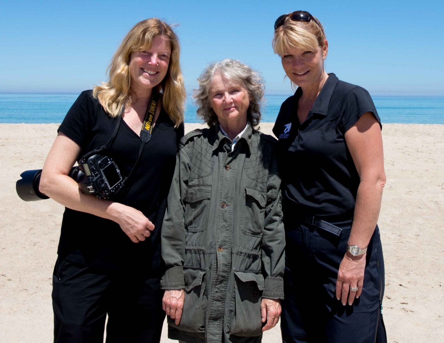 Me, Zoe Lucas and photographer Michelle Valberg