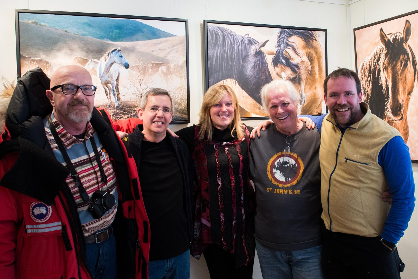 Some of the finest photographers I know stopped by! And they are great friends too! (left to right) Peter Waiser, Jean Labelle, me, John Rowlands, Harry Nowell