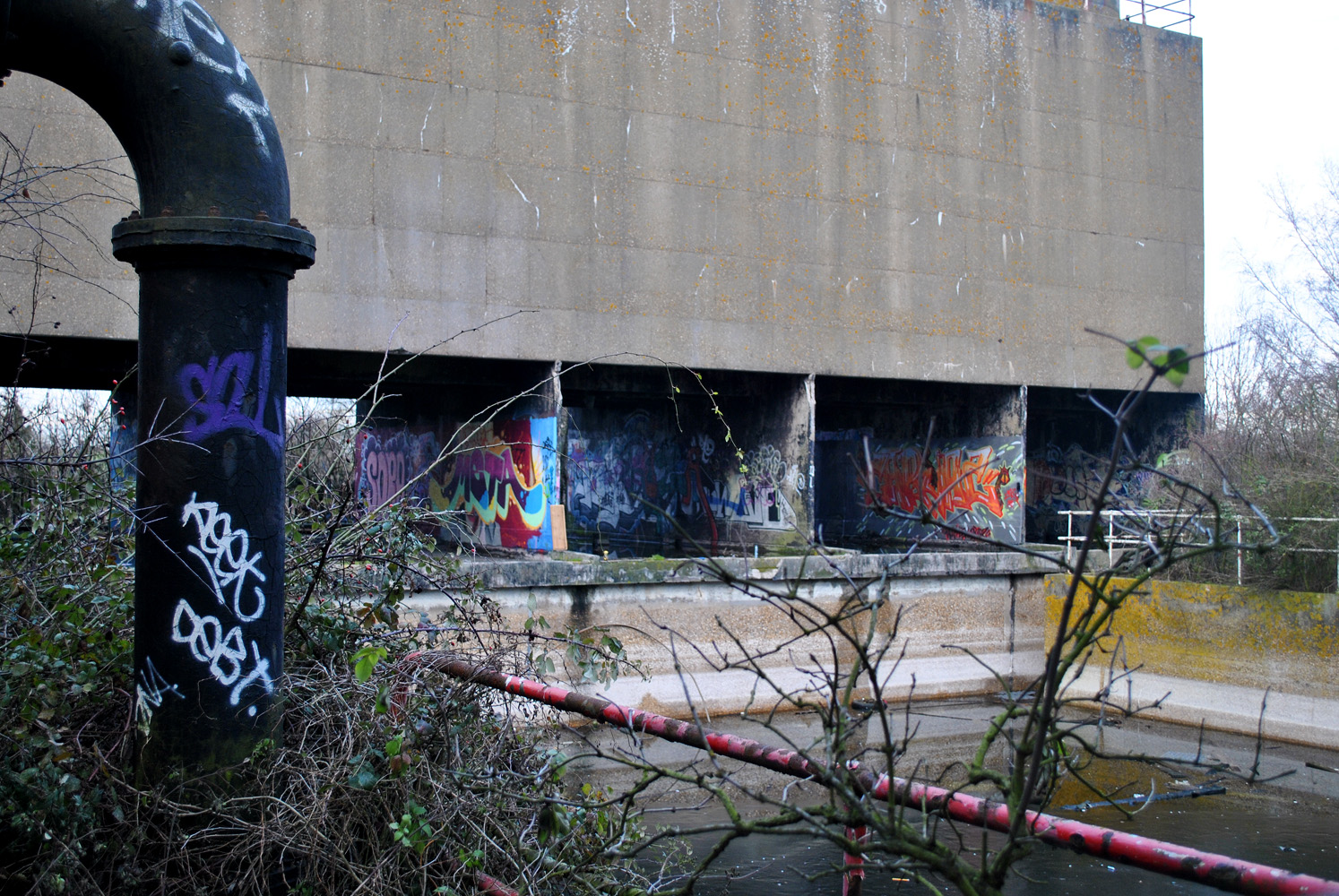 Derelict Fertiliser Factory - Dirty Dirty tanks of chemically waterWhere I cut my urban exploring tooth.Alos ran around here ina bear suit for the the day on one occasion