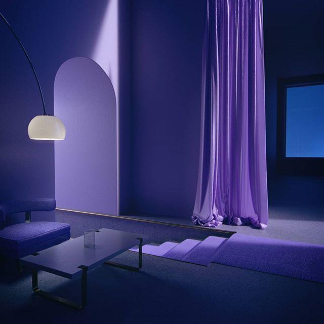 DIGRESSION - INTERIOR Satisfyingly purple.  #c4d #cinema4d #octane #octanerender #3D #interiordesign  #purple