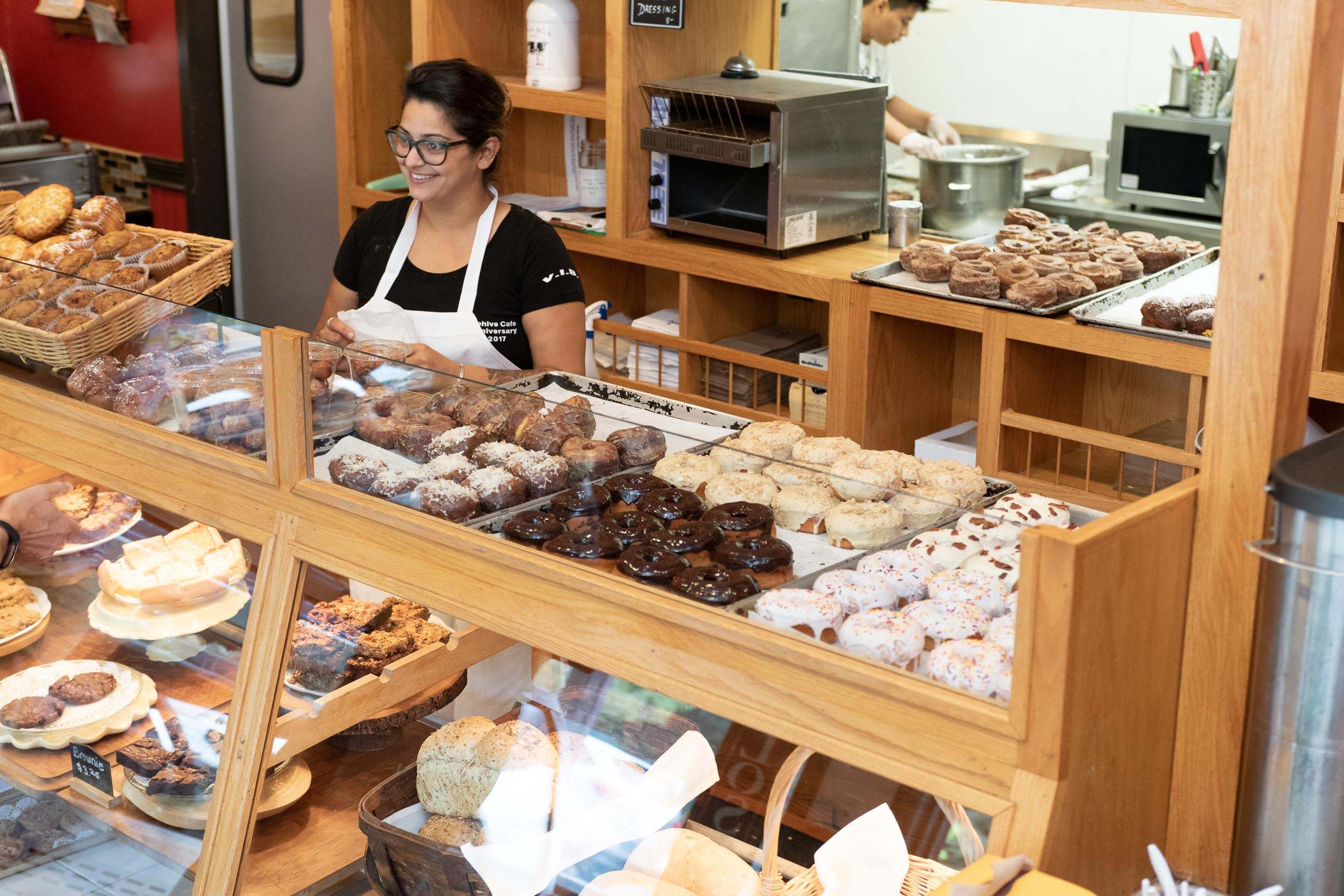 Beehive Pantry with fresh pastries and food