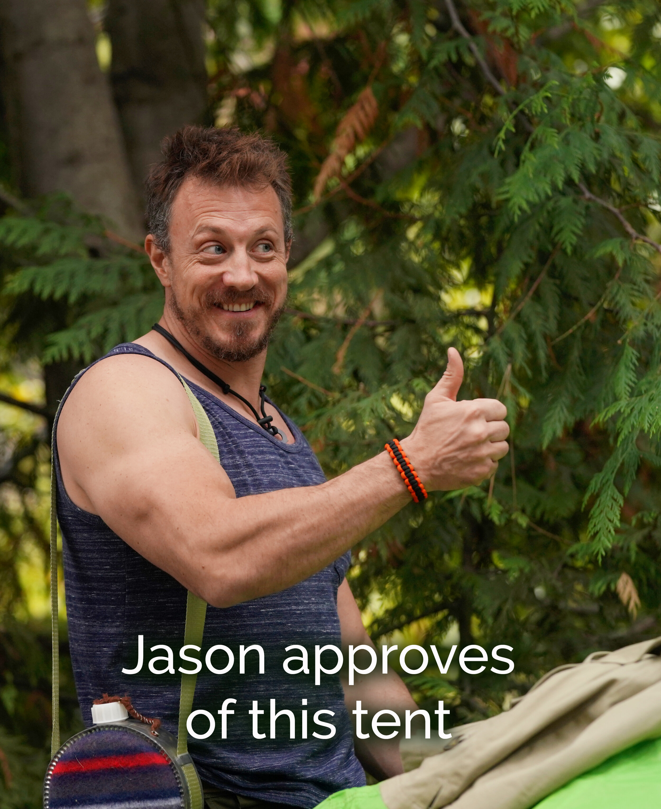 Jason approves of this tent.jpg