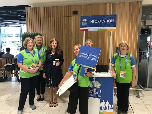 World Meeting of Families ~ Dublin, Ireland ~ Airport Welcoming Committee and Organizers