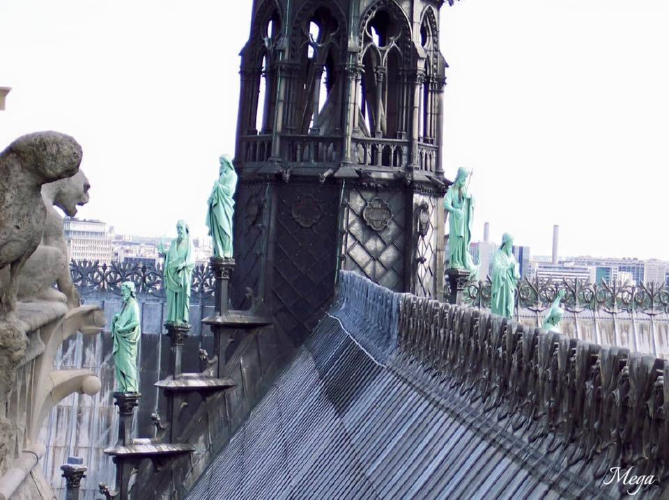 Spire and roof line - now destroyed