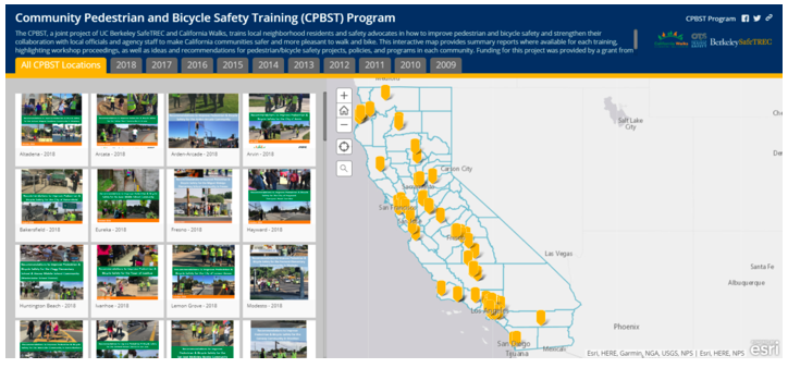 You can also view a  web accessible, text version of the CPBST Interactive Map .