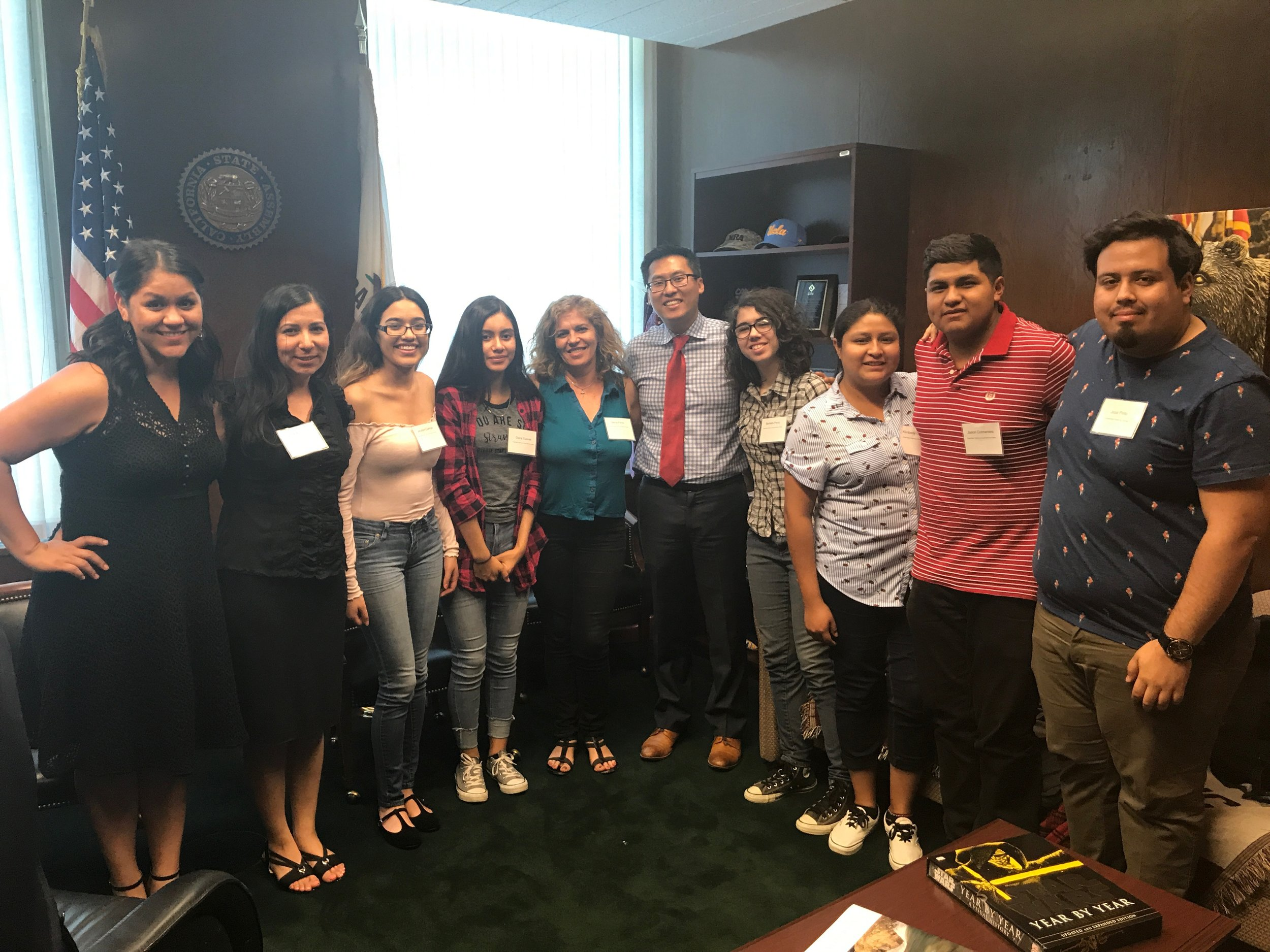 South Kern Youth Leaders Share their Work and Community's Needs to Assemblymember Fong