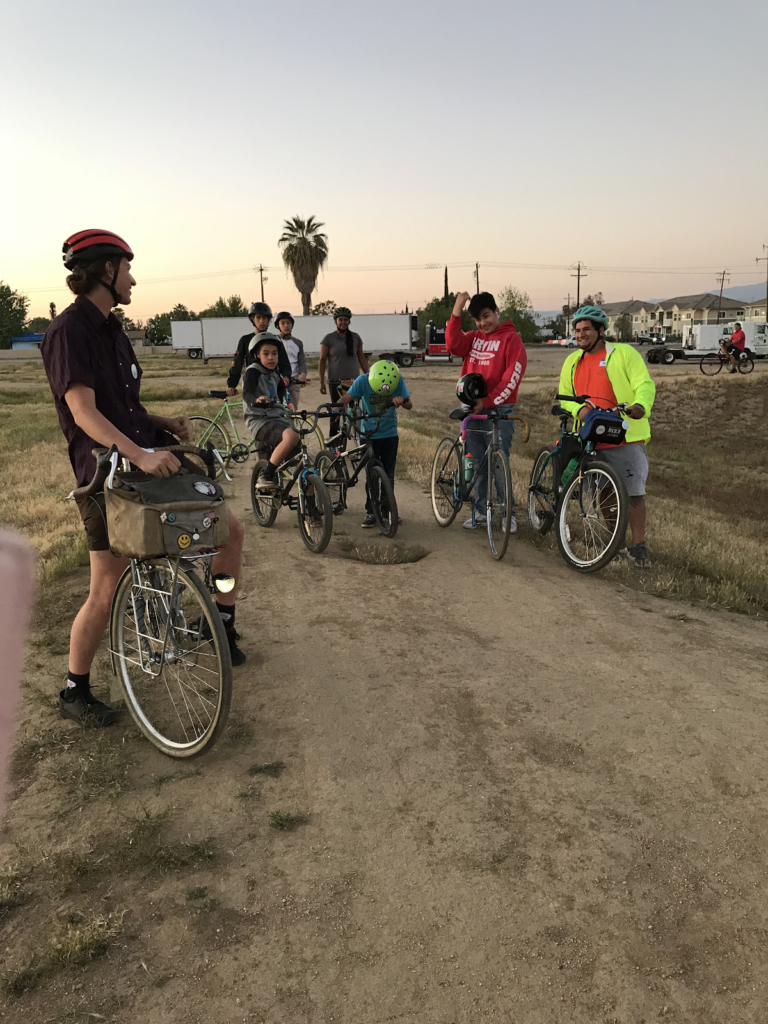 Arvin youth during their weekly Friday night rides.