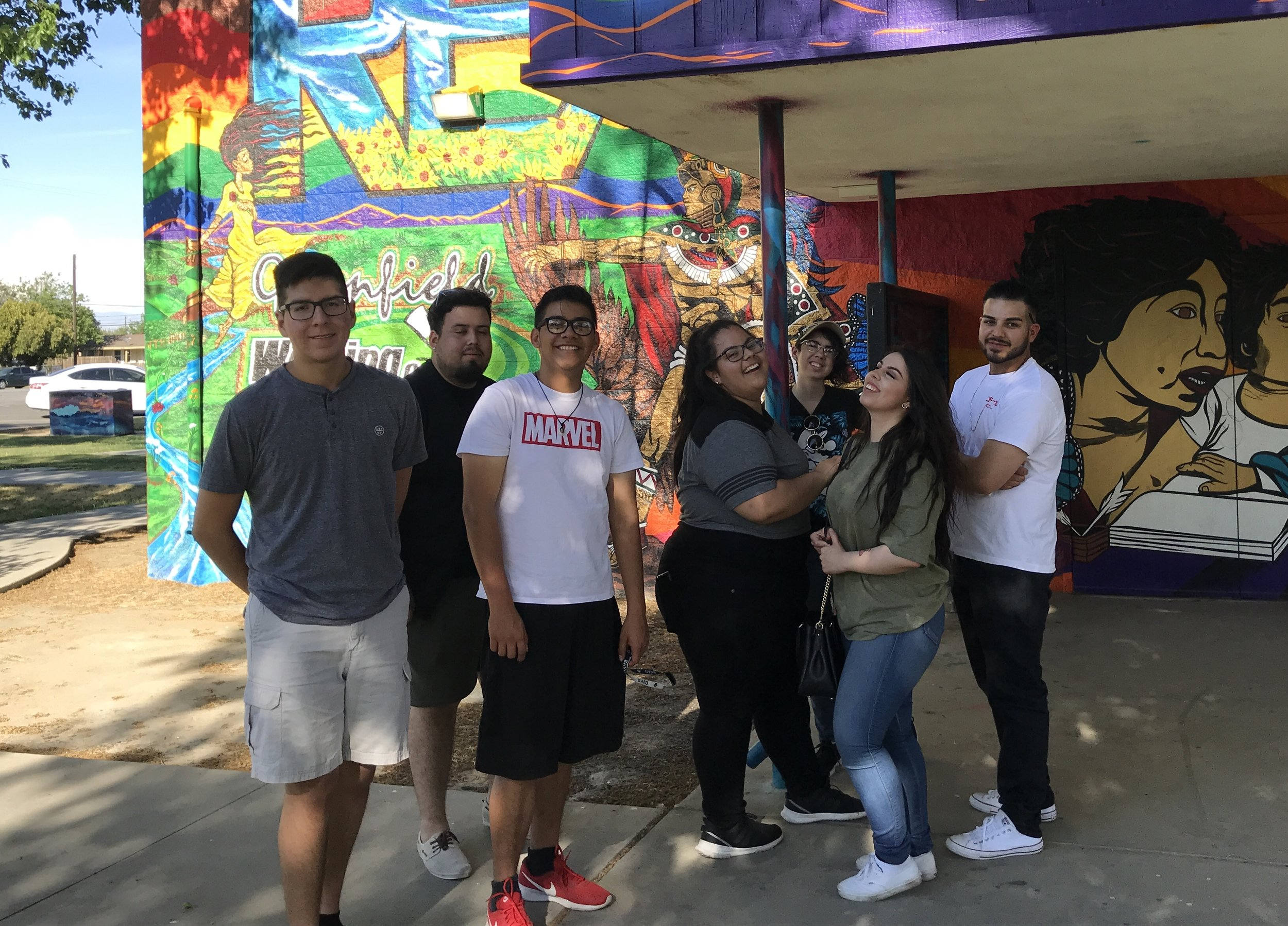 Youth Leaders from Greenfield Walking Group took a day to complete walking audits of all three focus parks to help plan their community event.