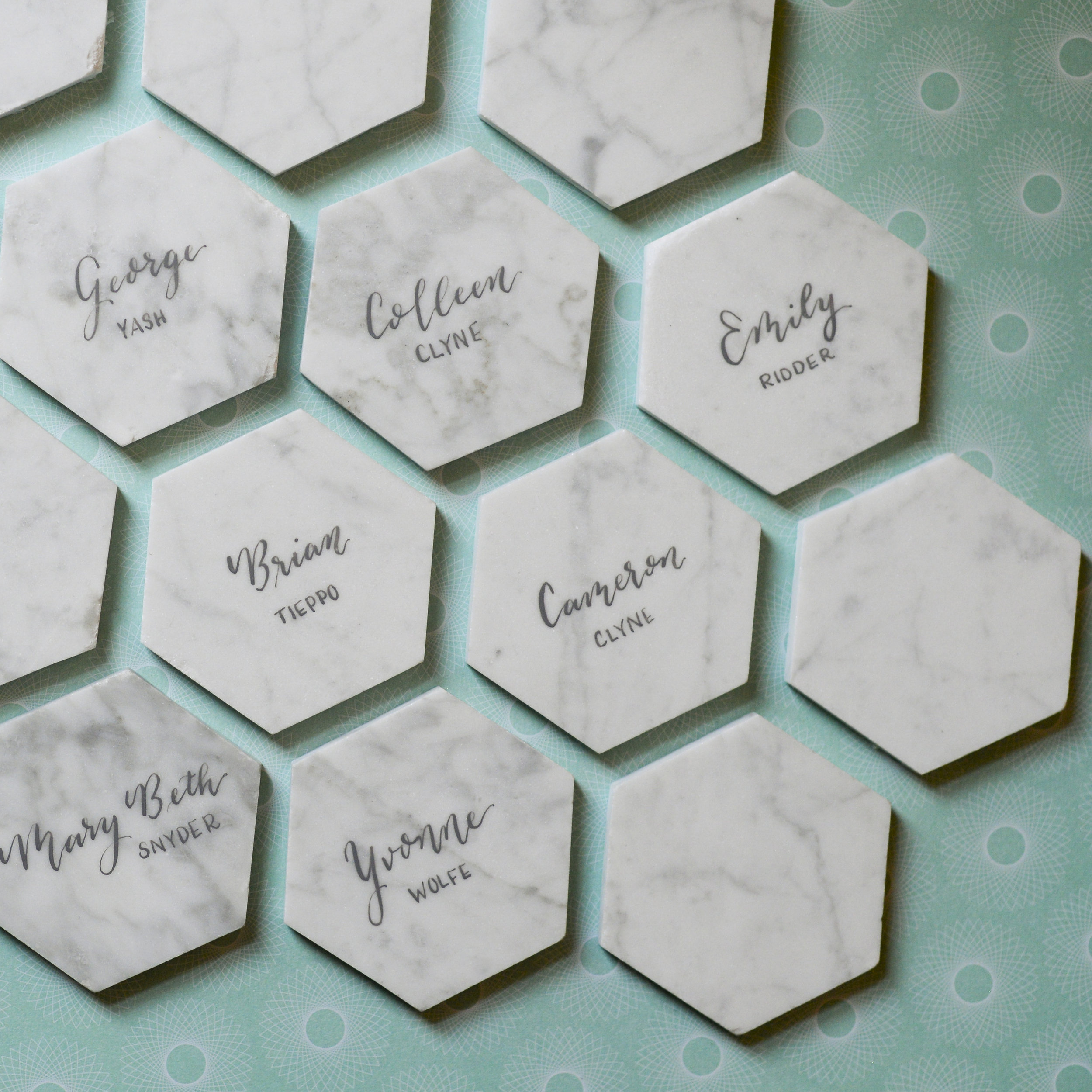 Custom Marble Place cards