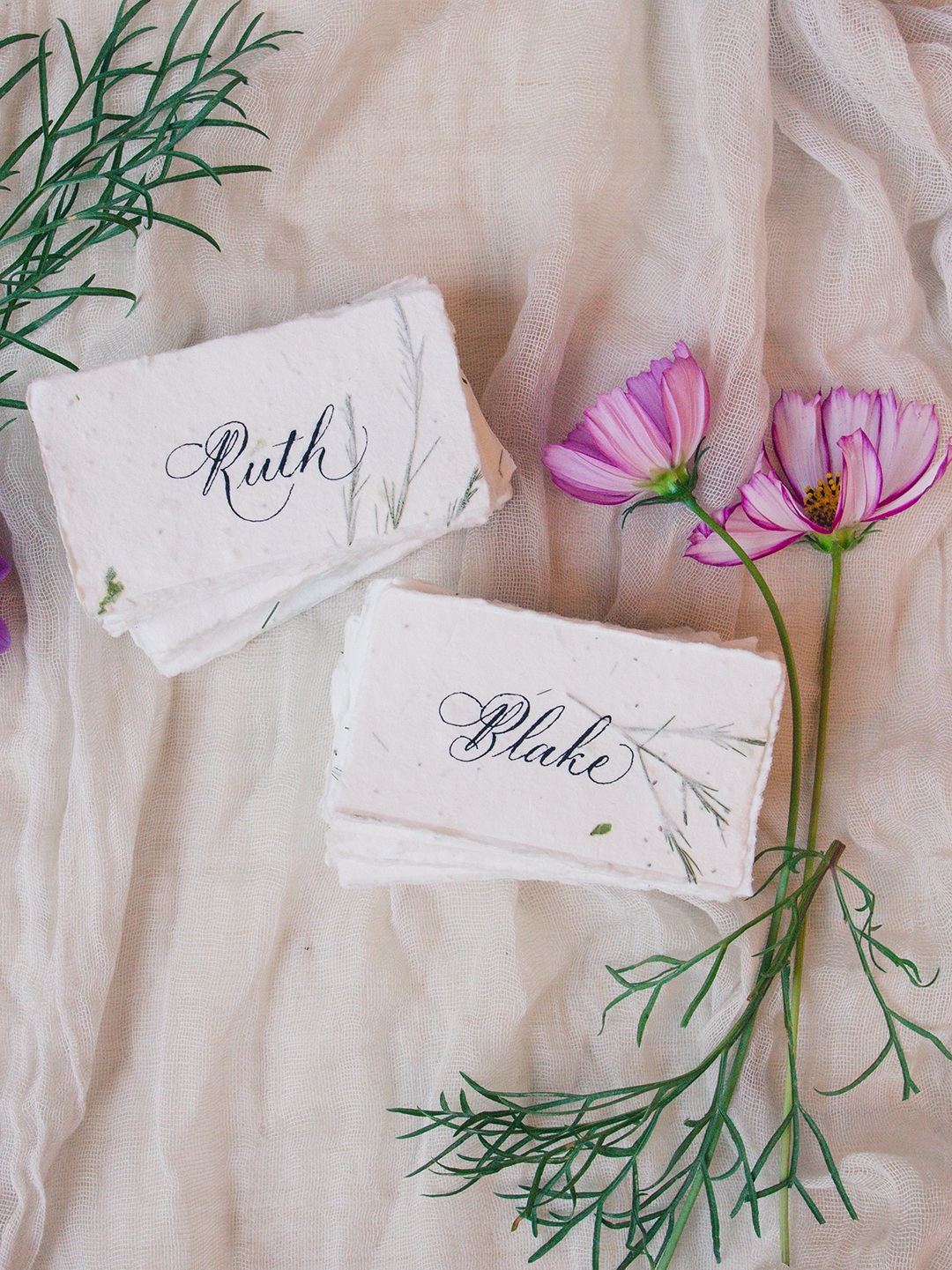 Day-of Design - Place cards, escort cards, menus, programs and more.