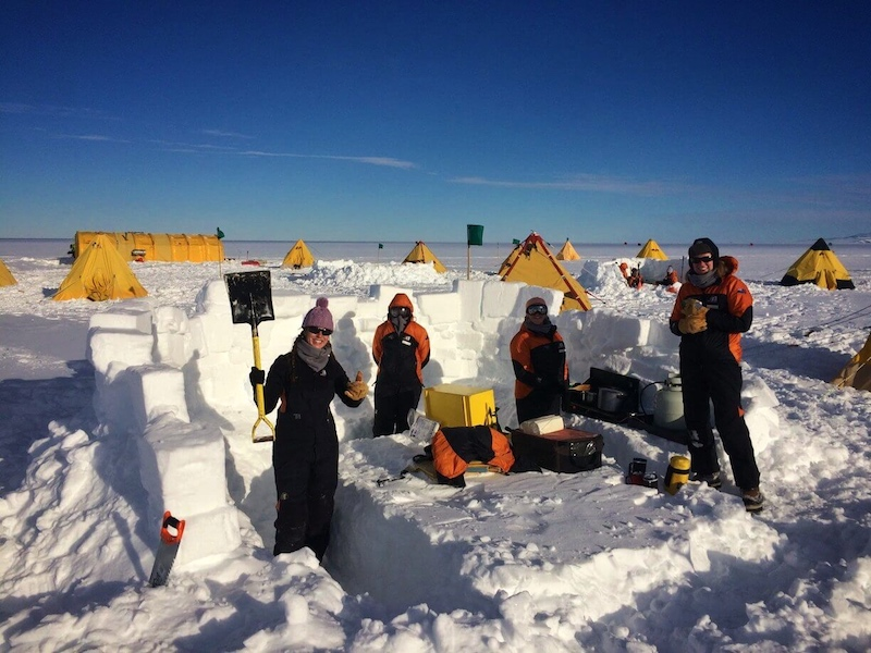 Ice kitchen at the field camp, McMurdo Ice Shelf