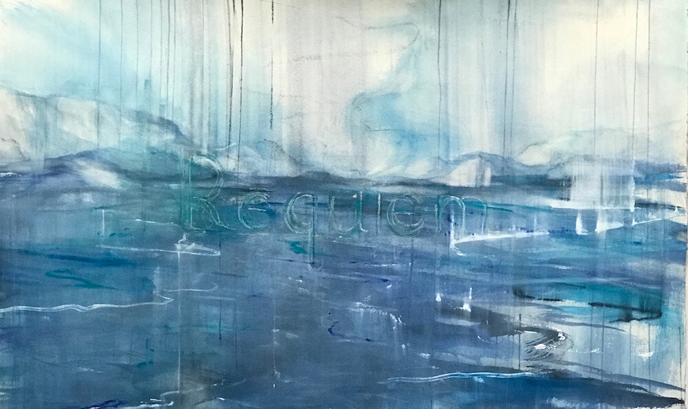"""Eleanor Goldstein artwork """"Requiem"""" watercolor greenland iceberg"""