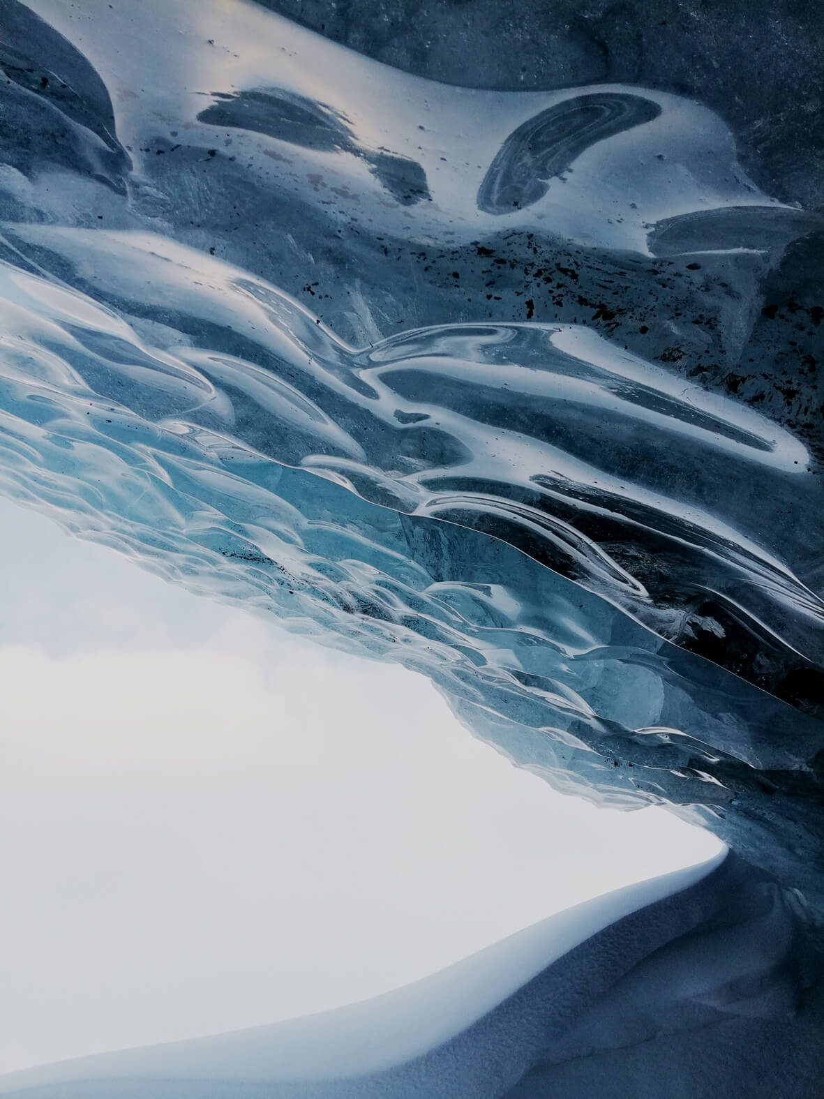 blue ice cave high arctic