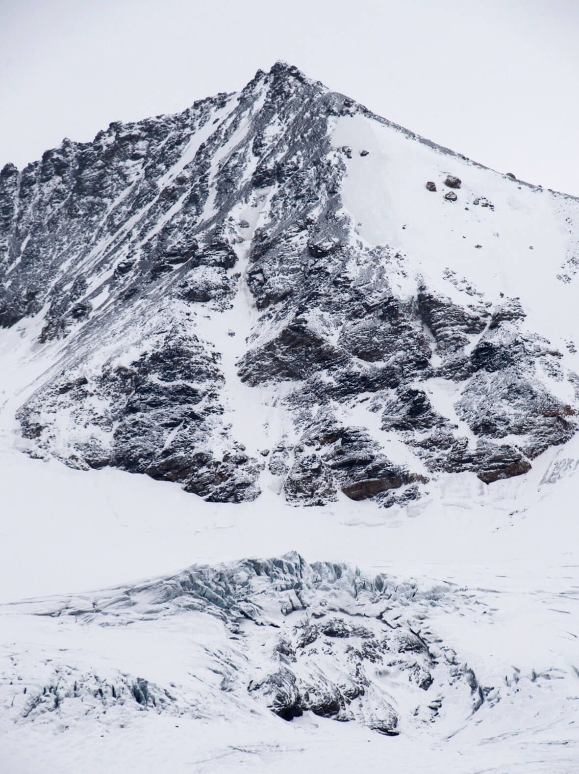 arctic mountain with ice and glacier