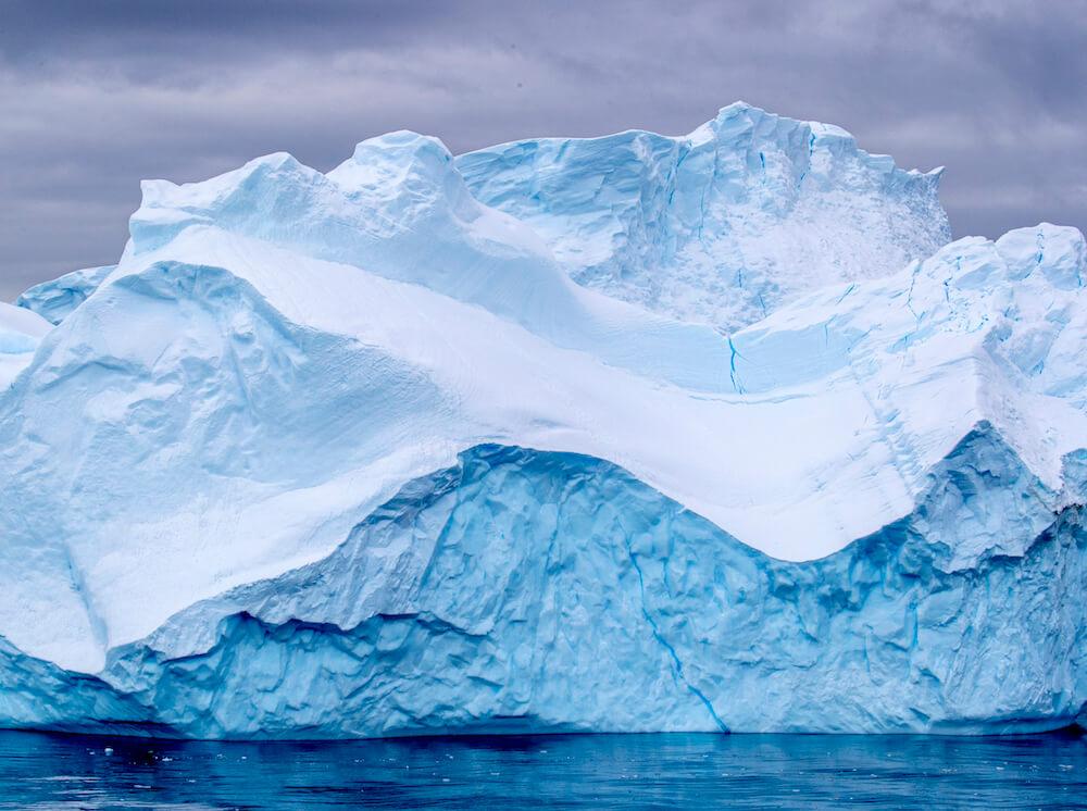 antarctica iceberg blue and white
