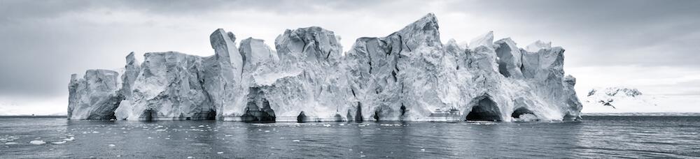 Iceberg in Antarctica image by Christohpe Ngo cyanotype