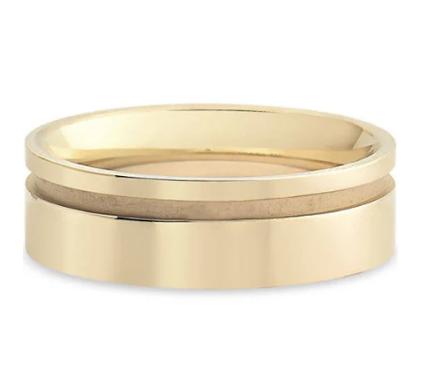 Aliança de Casamento Ouro Champanhe - Marca: VivaraValor: R$2,390.00