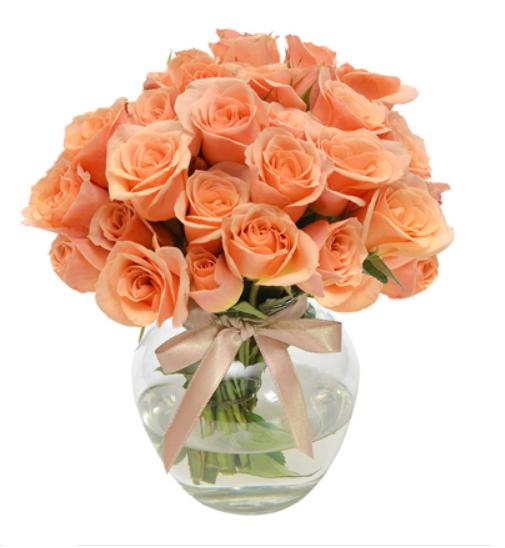 Arranjo de Mesa Rosa Champanhe - Arranjo de flores frescas para casamentosGiuliana FloresValor: R$118.50