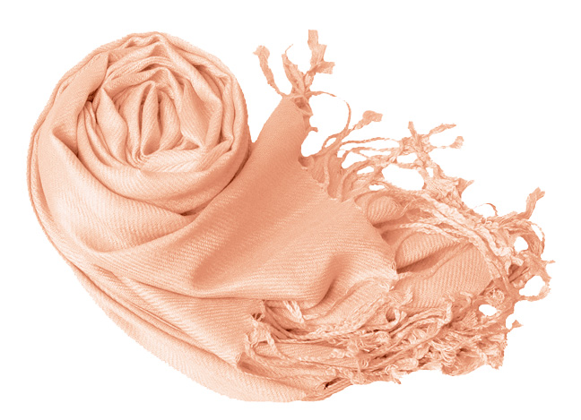Echarpe na cor salmao rosinha claro/rose