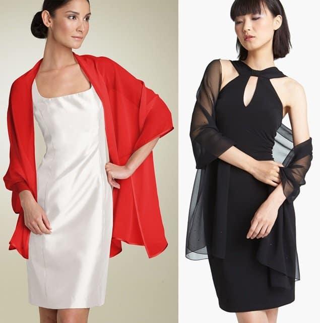 lenco fino com vestido curto echarpe vermelha.jpg