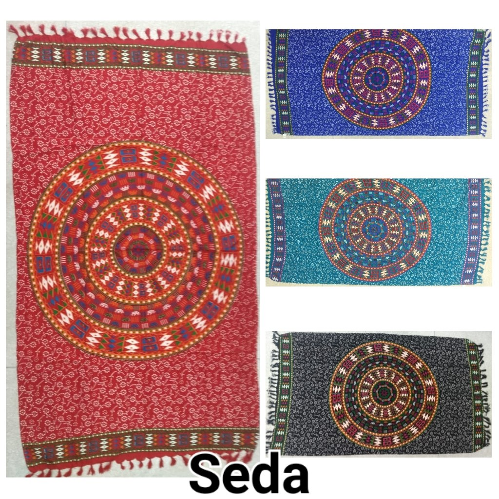 canga com mandala colorida india atacado